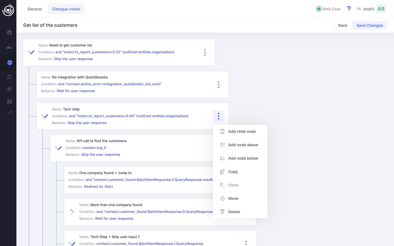 Inbox user interface